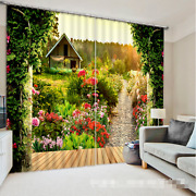 3d Path Flowers Blockout Photo Curtain Printing Curtains Drapes Fabric Window Ca
