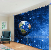 3d Earth Stars Blockout Photo Curtain Printing Curtains Drapes Fabric Window Ca