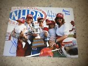 John Forcebrittany Ashley Force Laurie Force Signed 11x14 Photo Coa