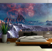 3d Stone Mountain Sunset Glow Wall Paper Wall Print Decal Wall Deco Indoor Wall