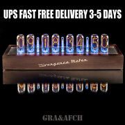 In-18 Nixie Tubes Clock In Wooden Case [8 Tubes] Ups Free Delivery 3-5 Days