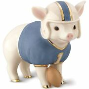 Lenox Touchdown Tommy Pig Football Figurine New In Box