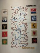 Westeros Game Of Thrones Counted Cross Stitch - Ready To Frame
