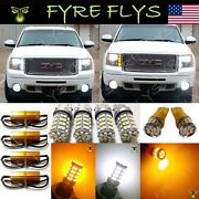White/amber Switchback Led Turn Signals And Amber Side Marker Package 07-13 Sierra