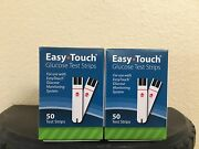 Easy Touch Blood Glucose Test Strips Box Of 100 Ct 2 Boxes X 50 Ct
