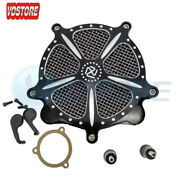 Air Cleaner Intake Filter For Harley Touring Street Glide Road King 2008-2016