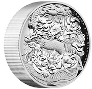 2016 Dragon And His Nine Sons 5oz Silver Proof High Relief Coin