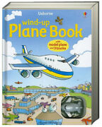 Usborne Wind-up Plane Book With Model Plane And 3 Tracks Board Book New
