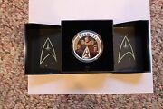 Star Trek The Five Captains 2017 2 Ounces Of Pure Silver Coin Sold Out Only 5000
