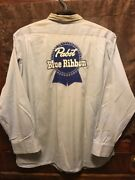 Pabst Blue Ribbon Pbr Milwaukee Beer Vintage 1950s Harts L/s Delivery Work Shirt