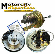 64 65 66 67 Gm A-body Front Power Disc Brake Conversion Drilled Slotted Rotors