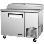 Turboair Tpr-44sd 44 Commercial Refrigerated Pizza Prep Table Cooler