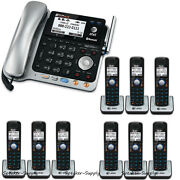 Atandt Tl86109 2 Line Connect Cell Bluetooth Corded 9 Cordless Combo Phone System