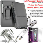Quality Vertical Belt Clip Pouch Holster Flip Case Holder✔accessory Pack✔grey