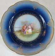 Wm. Guerin, Limoges Fine Porcelain Scenic Corting Lovers Cabnet Plate 8.1/4d.