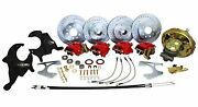 Deluxe 1967-72 Chevy Chevelle Power Front And Rear 4 Wheel Disc Brake Kit, 2 Drop