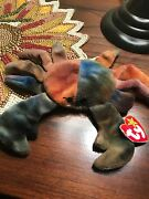 Extremely Rare Ty Beanie Baby Claude The Crab, Retired W/many Errors. Mint Cond.
