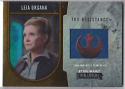 Star Wars 2016 Topps Evolution Commemorative Flag Patch Gold Insert Leia 15/25