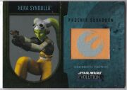 Star Wars 2016 Topps Evolution Commemorative Flag Patch Gold Hera Syndulla 21/25