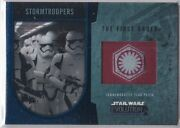 Star Wars 2016 Topps Evolution Commemorative Flag Patch Blue Stormtroopers 18/50