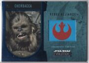 Star Wars 2016 Topps Evolution Commemorative Flag Patch Blue Chewbacca 38/50