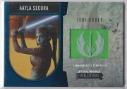 Star Wars 2016 Topps Evolution Commemorative Flag Patch Blue Aayla Secura 35/50