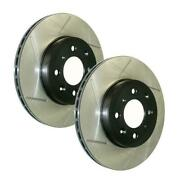 Stoptech Power Slot Slotted Rear Brake Rotors For 05-07 Sti - 126.47023s