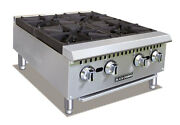 Black Diamond Stainless Steel Gas Hot Plate 24″ Bdcth-24/ng 4 Burner New