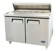 Atosa Msf8302 Stainless Steel Sandwich Prep Table 48 Refrigerator Free Liftgate