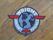 Wwii Wright Aircraft Engines Back Patch Employee Only Usa Made For Coveralls