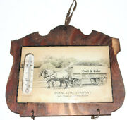 1925 Wood And Glass Advertising Thermometer Royal Coal Company Coal And Coke