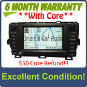 Toyota Prius Navigation Gps Radio 4 Disc Changer Mp3 Cd Player E7022 Lcd Display