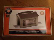 Lionel 37130 Boy Scout Of America Lighted Covered Bridge New In Box