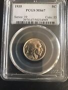 Usa Seller 1935 Pcgs 67 Buffalo Nickel Free Shipping Us Only