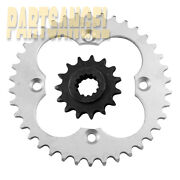 Front And Rear Sprocket For 1999-2004 2000 2001 2002 2003 Honda Trx400 Ex Sportrax