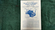 Lionel Type Vw And Zw Transformer 250-275 Watts Instructions Photocopy