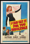 I Can Get It For Your Wholesale Susan Hayward Pin-up 1951 1-sheet Linenbacked