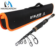 Maxcatch Travel Spinning Fishing Rods 6and0398and039and039/ 7and039/ 8and039/ 9and039 Telescopic Fishing Pole