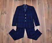 Thierry Mugler Paris Vintage Menand039s Wool Classic Suit 46 M Italy Rare