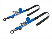 Powertye 1 1/2in. Fat Straps With Soft-tye And Secure Hooks Blue 30573-st