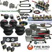 D F150 87-96 Air Kit 25/2600 Bags 3/8 Valve 7 Switch 5 Gal Dual Compressors