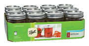 Ball Regular Mouth Mason Jars Pack Of 12 Partno 60001 By Jarden Home Brands