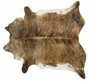 Brown Salt And Pepper Brazilian Cowhide Cow Hide Area Rugs Leather Size Large