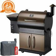 Z Grills Zpg-700d Wood Pellet Grill Bbq Smoker Digital Control 8 In 1 Free Cover
