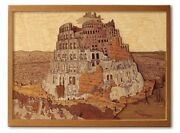 Wood Collage Handmade Kit Bruegel The Tower Of Babel Wood Craft Wood Puzzle F/s