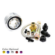Oil Filter Sandwich Adapter Plate + Oil Hose Feed Line + Fitting For Acura Honda