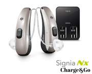 2 Brand New Signia Pure Chargeandgonx 3 Hearing Aids + Free Charger