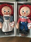 Raggedy Ann And Andy Dolls With A Heart By Johnny Gruelle Knickerbocker 1995 New
