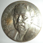 Large Model For A Medal Of Statesman Aristide Briand Nickel Galvano Abt 8 1/2