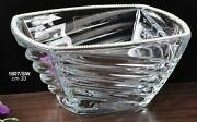 Italian Collection Crystal Square Bowl, Decorated With Crystal